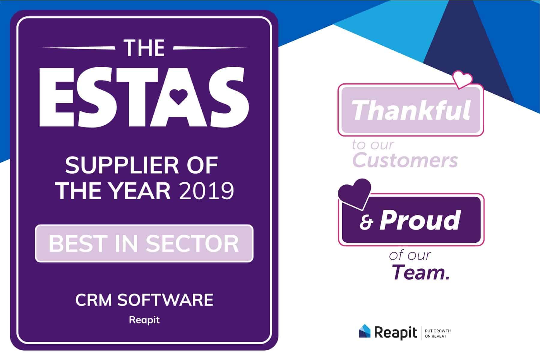 Reapit Wins Best CRM Software at ESTAS 2019