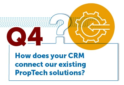 How does your CRM connect our existing PropTech solutions?
