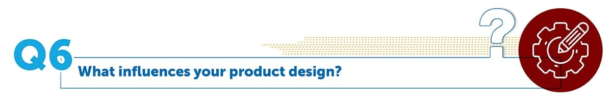 What influences your product design?