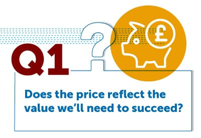 Does the price reflect the value we'll need to succeed?