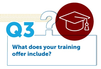 What does your training offer include?
