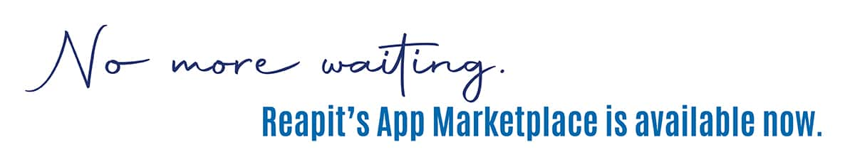 No more waiting. Reapit's App Marketplace is available now.